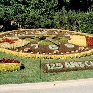 L'horloge fleurie