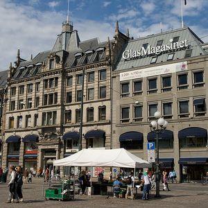 Площадь Stortorvet в Осло