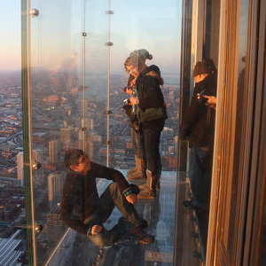Lookout Skydeck Chicago Willis Tower